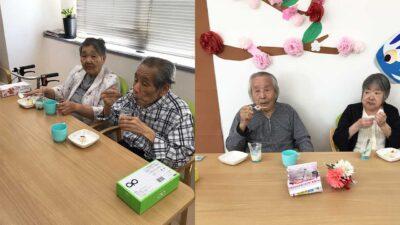 住宅型有料老人ホーム「マイス」6月レクレーション「手形アート&おやつ」